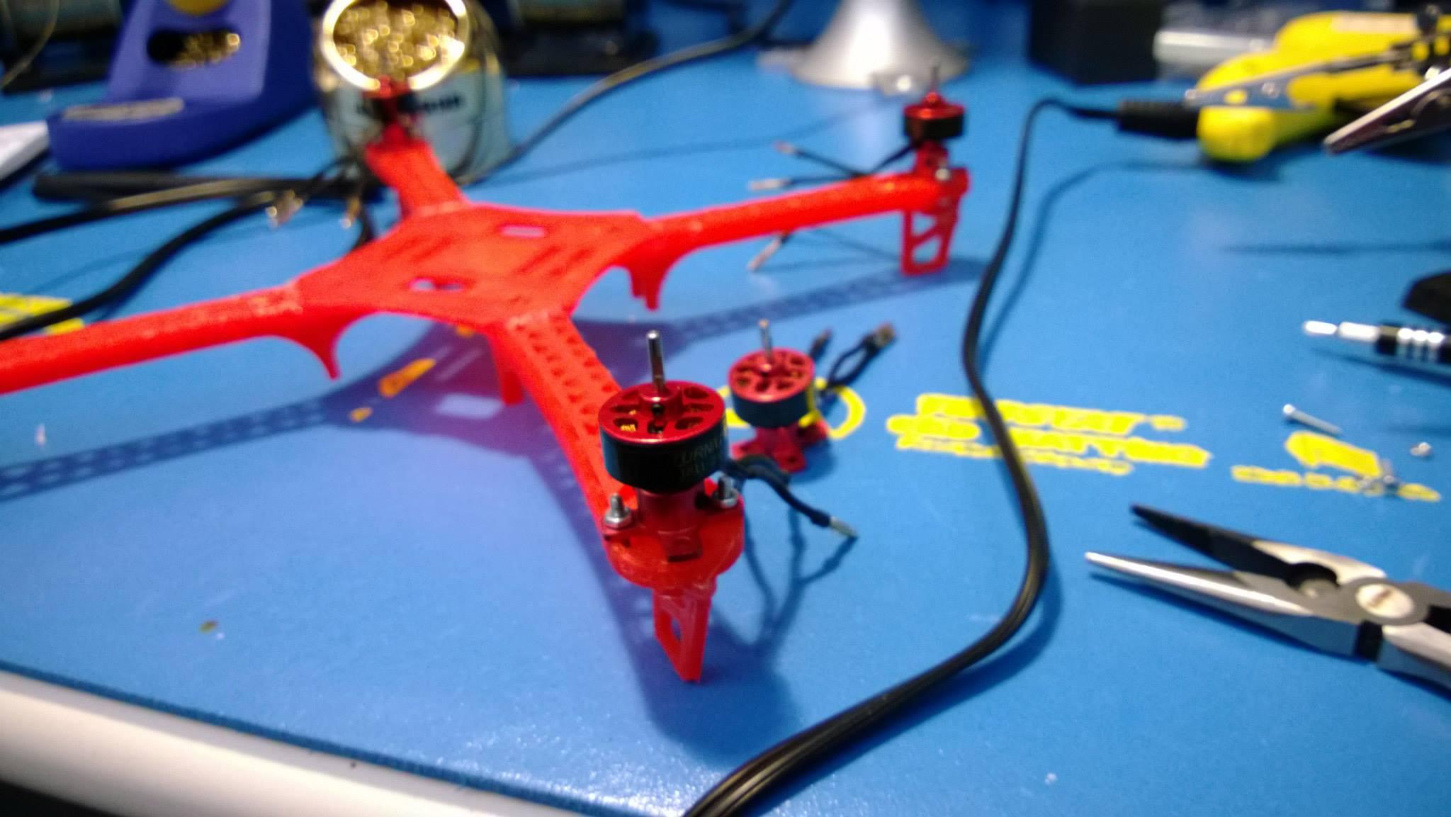 motor on quad frame arm